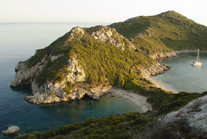 Afionas_beach in Corfu, Greece